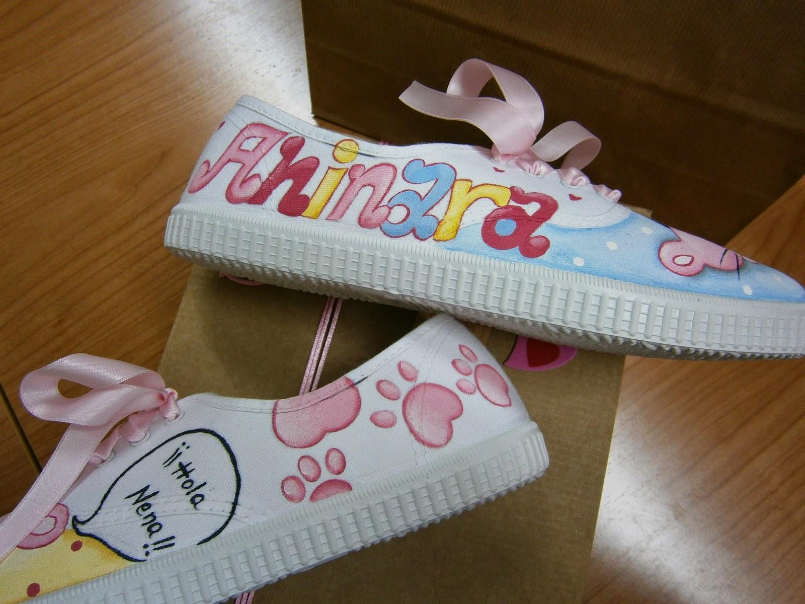 Zapatearte zapatillas pantera rosa zapatillas pintadas - Regalos a mano ...