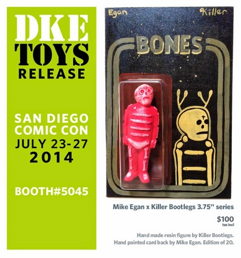 San Diego Comic-Con2014 Exclusive Mike Egan x Killer Bootlegs Bones Resin Figures - Red Bones with Star Wars Blister Card