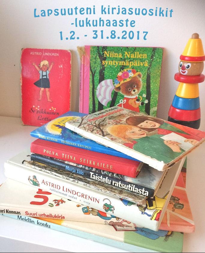 Lapsuuteni kirjasuosikit -lukuhaaste (1.2.-31.8.2017)