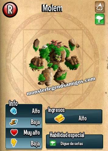 imagen de las caracteristicas del monstruo molem