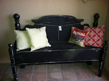 SOLD-Chunky Black Bench