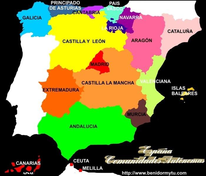 Blog 5 Fuentesanta Mapas interactivos Comunidades Autnomas de
