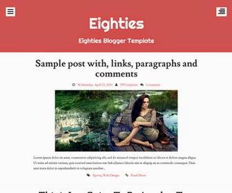 Eighties Blogger Template