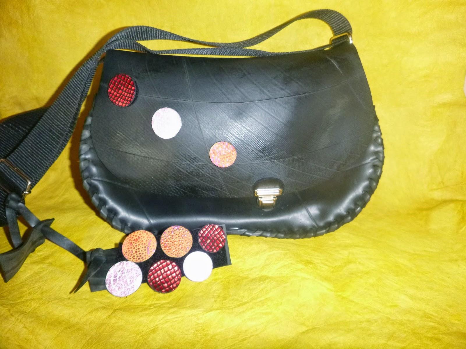 Les sacs de lucie cr ation de sacs en chambre air ou peau de pneu recycl e - Sac a main chambre a air ...