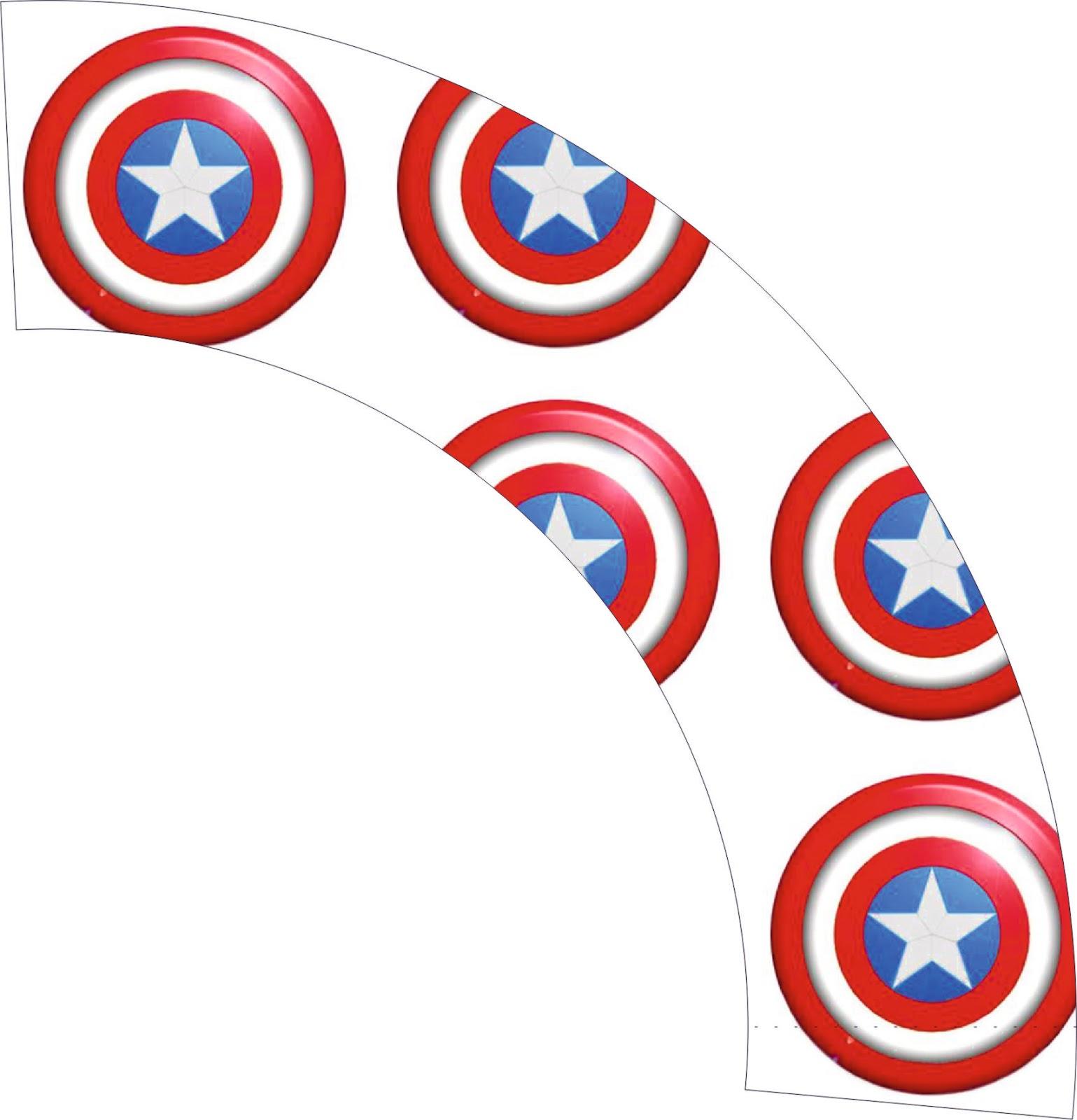 Bonito Capitán América Para Colorear Escudo Patrón - Enmarcado Para ...
