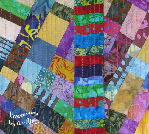 More batik scraps sewn together