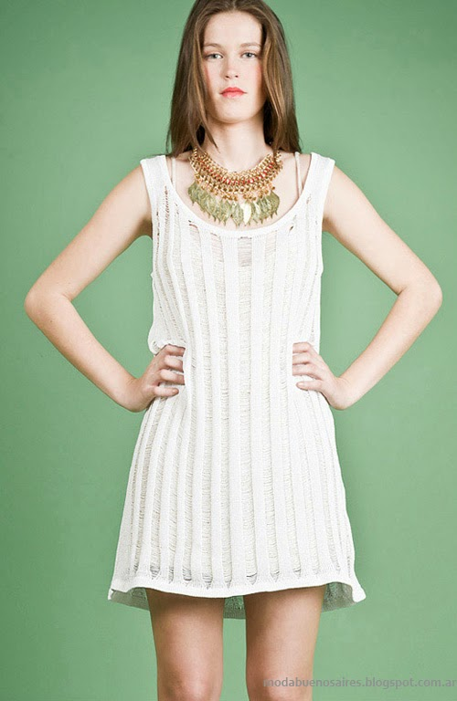 Moda Tejidos verano 2014 vestidos. Agostina Bianchi verano 2014.