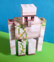 Iron Golem Minecraft printable papercraft cutout