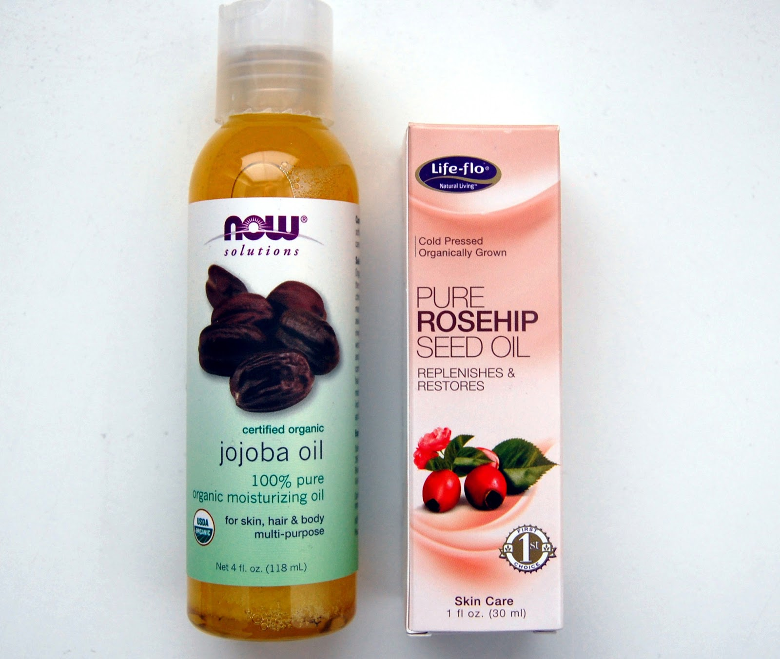 Now Jojoba Oil Life Flo Health Rosehip Seed Oil