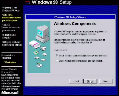 cara instal windows 98