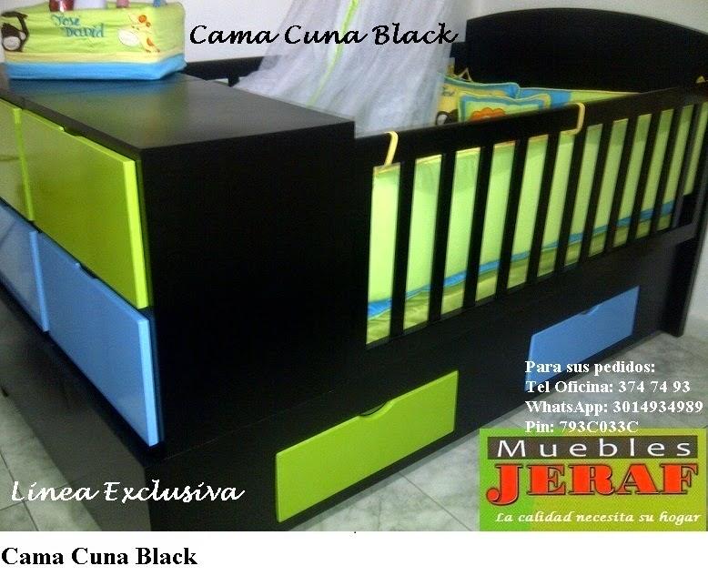 Cama Cuna Black
