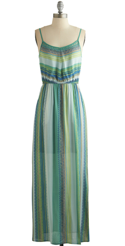 Striped and patterned maxi dress from Modcloth