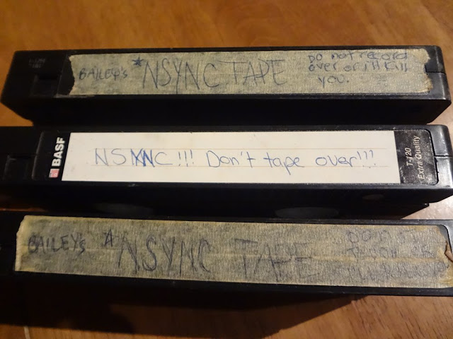 VHS tapes of Nsync TV performances