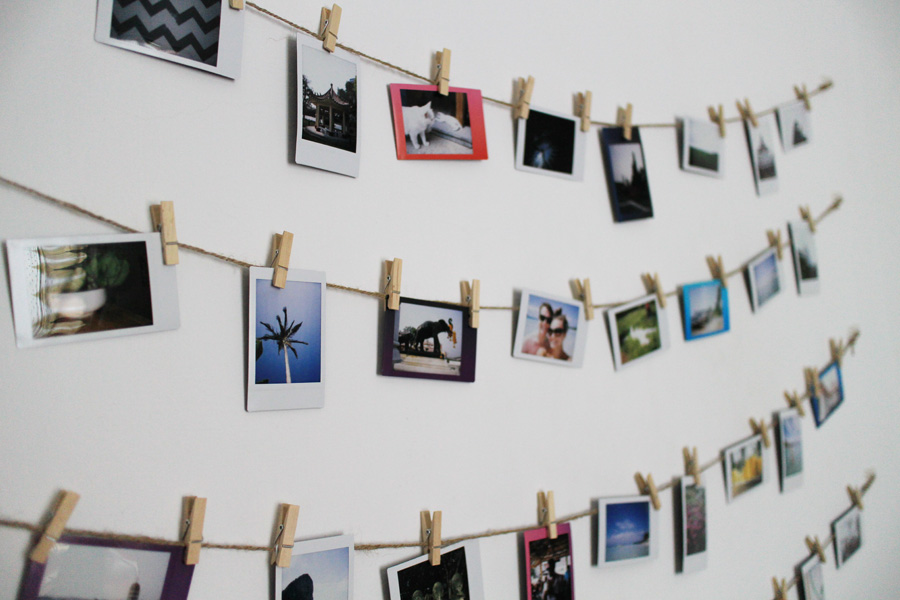 Ink Adventure Diy Photo Wall Display 52 Weeks Project : clothespin wall art - www.pureclipart.com