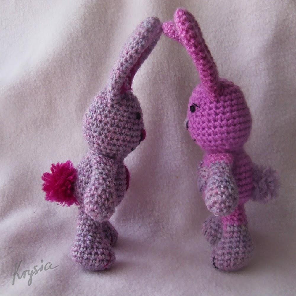 szydełkowe króliczki amigurumi
