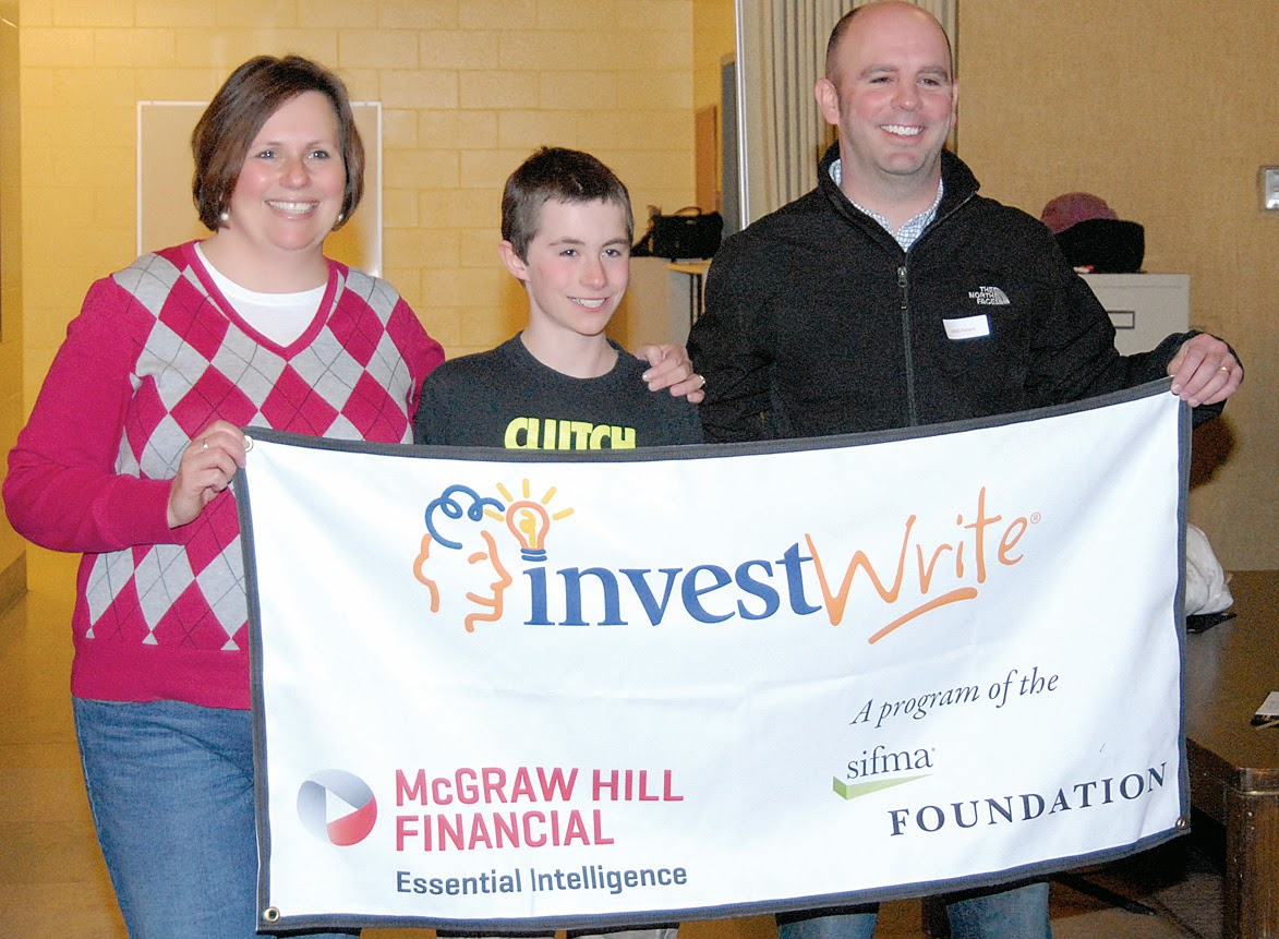the windham eagle local students win in the stock market game gugliuzza and his parents