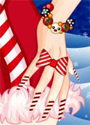 Рождественский маникюр - Онлайн игра для девочек