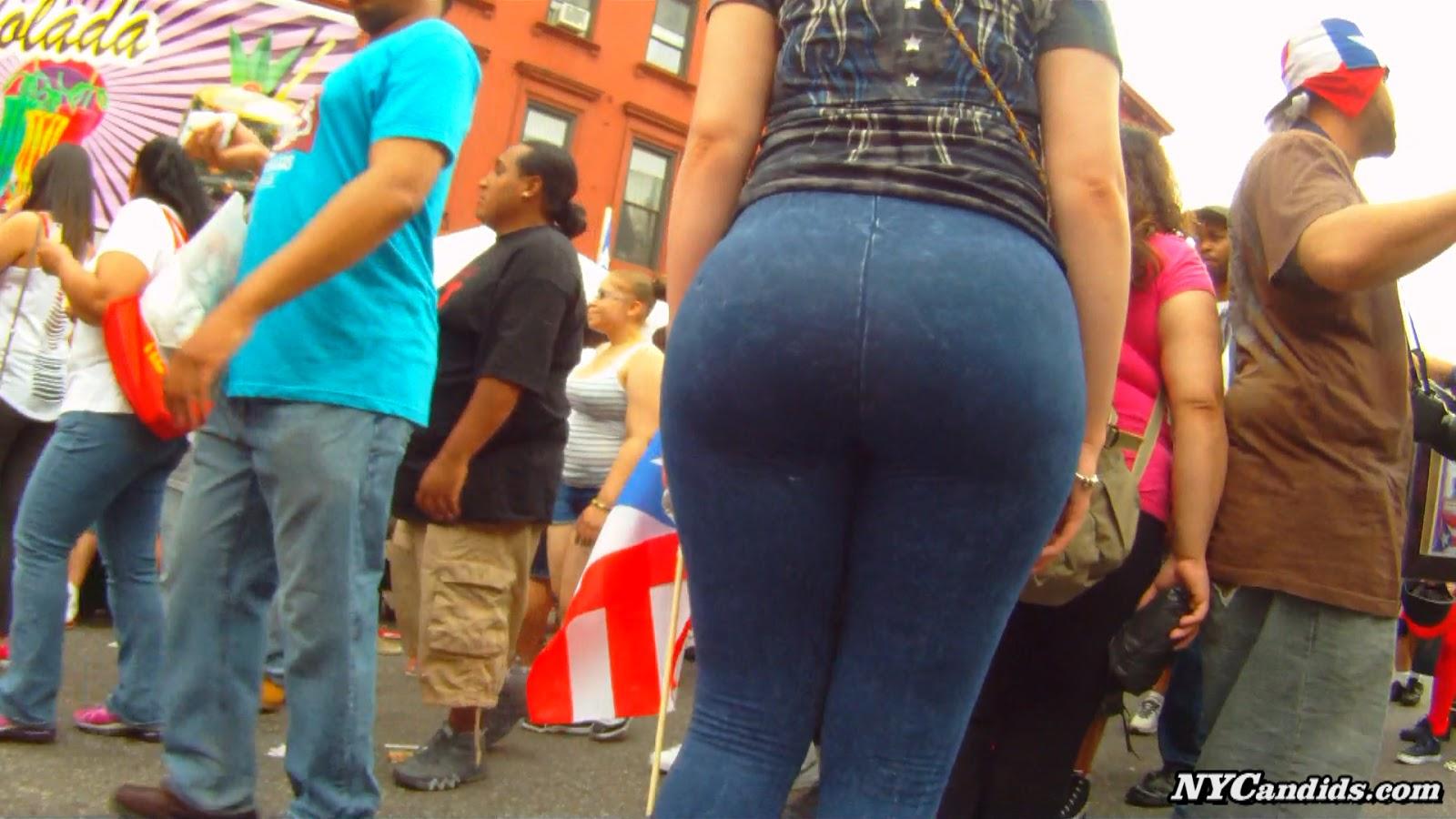 116th street festival big bubble ass spandex milf walking - 5 1