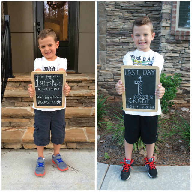 Stilettos and Diapers: First and Last Day of School Chalkboard