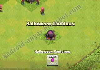 Cara trik memunculkan 2 Halloween Cauldron di COC Terbaru Gratis 100.000 Elixir