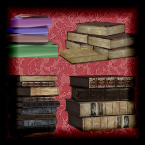 "Free scrapbook ""Books 2"" from mgtcsdigitalartstuff Full Size"