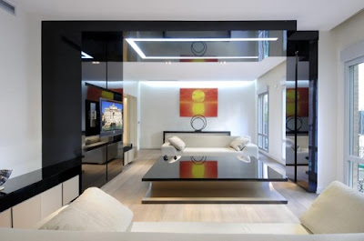 modern apartment living room renovation result by a cero in madrid