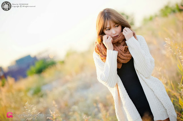 1 Lee Eun Hye in the sunset - very cute asian girl-girlcute4u.blogspot.com