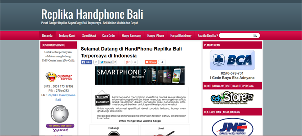Hpbali.com Toko Online Handphone Terpercaya