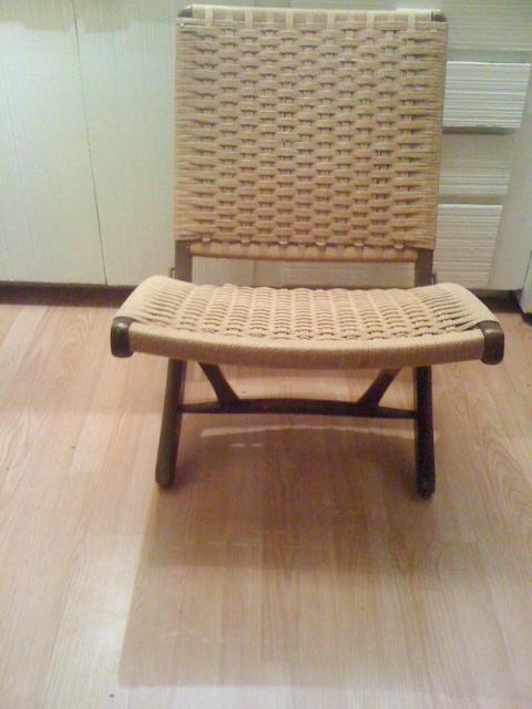 Artifact Danish Mid Century Mod Wegman Style Rope Chair Sold