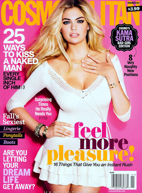 Kate Upton on the cover of Cosmopolitan USA November 2012 Issue