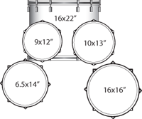 Ludwig Drum Set - Accent Series