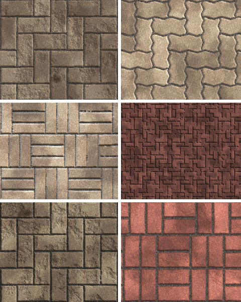 Street Pavers seamless tiling patterns for Adobe Photoshop and Photoshop Elements