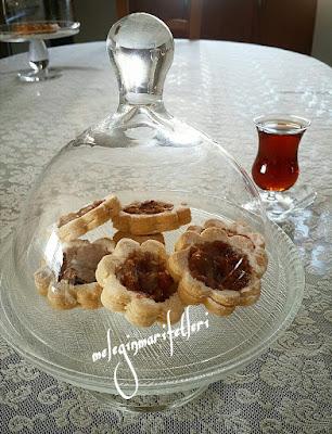 Elmalı çiçek kurabiye