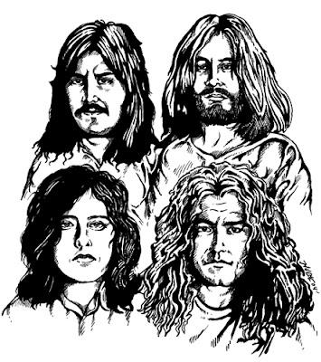 Desenho do Led Zeppelin