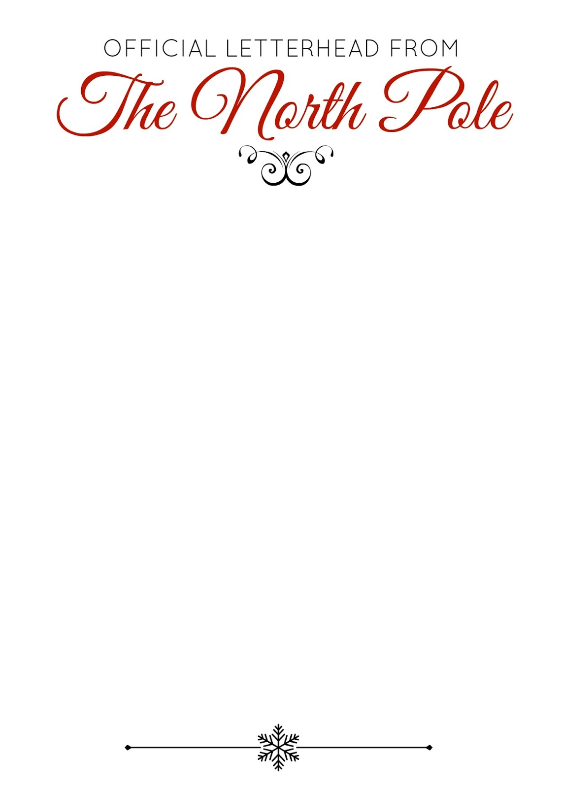 Elf on the Shelf Letterhead Plain