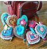 Llaveros corazones crochet