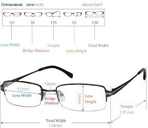 Cara Membaca Size / Ukuran Kacamata