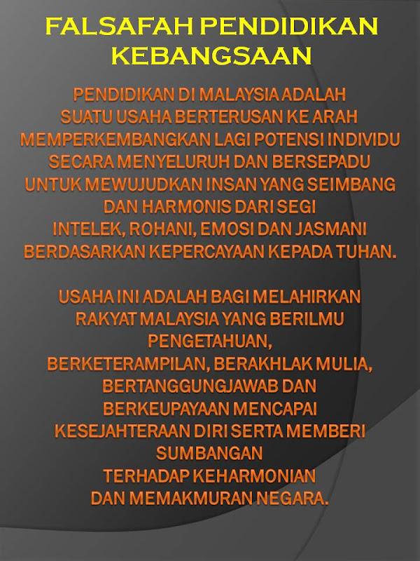 falsafah pendidikan Edu 3101 falsafah & pendidikan di malaysia tajuk 7 nordin tahir, jip hubungkait antara fpk dan fpg fpn falsafah pendidikan negara (1988) falsafah pendidikan kebangsaan (gabungan matlamat, dasar-dasar dan amalan pendidikan) pembangunan kemanusiaan menghasilkan perkembangan individu secara menyeluruh, bersepadu, seimbang dan harmonis dari segi.