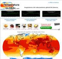 Calentamiento Global TemperaturaGlobal.com seguimiento del calentamiento global del planeta