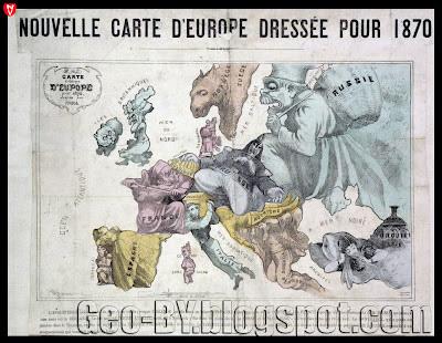 Nouvelle carte d'Europe Dressee pour 1870