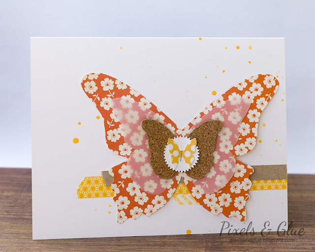 Handmade Farewell Card with Layered Butterfly