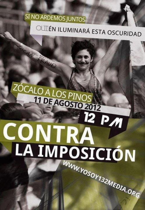 #YoSoy132 convoca a marcha 11 de agosto