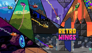 Screenshots of the Retro wings for Android tablet, phone.