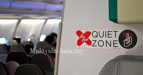quiet zone on airasia x flights malaysia asia. Black Bedroom Furniture Sets. Home Design Ideas