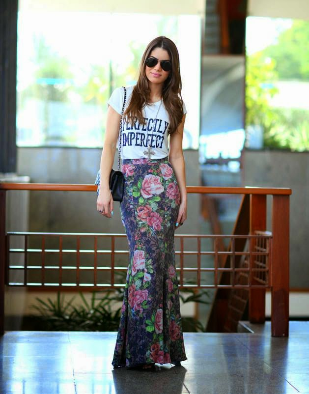 saia floral, roupas da moda, moda feminina, modelos de saias