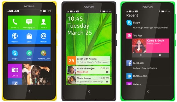 Nokia X X+ XL Android Smartphones Specification and price images pictures 2014
