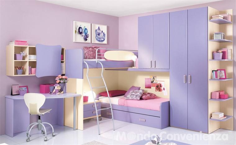 Habitaciones con estilo dormitorios de ni a en rosa y lila - Dormitorios de nina ...