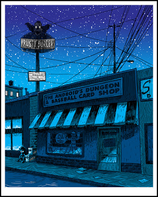"New York Comic-Con 2012 Exclusive The Simpsons ""Worst Print Ever"" Glow in the Dark (GID) Variant Screen Print by Tim Doyle"