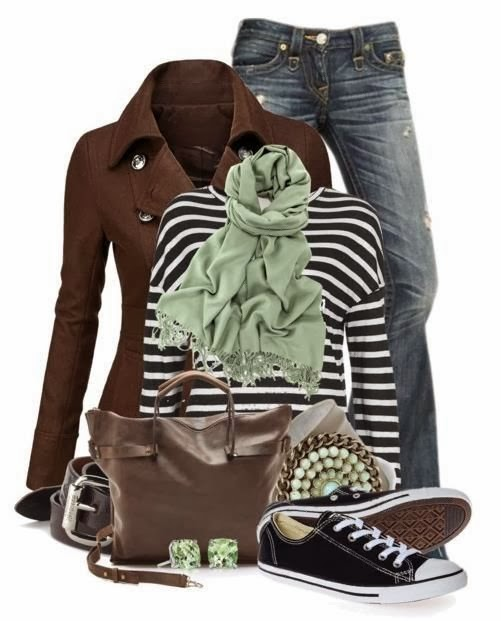 Amazing jacket, sweater, scarf, jeans and shoes combination for fall