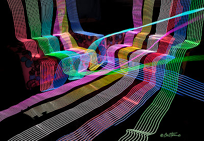 Long Exposure Photo in Ben Heine Studio - Led Lights
